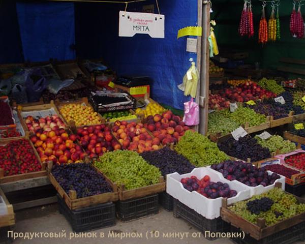 Жилье в Поповке. Продуктовый рынок в Мирном. Крым