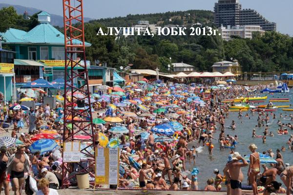 Алушта, городской пляж